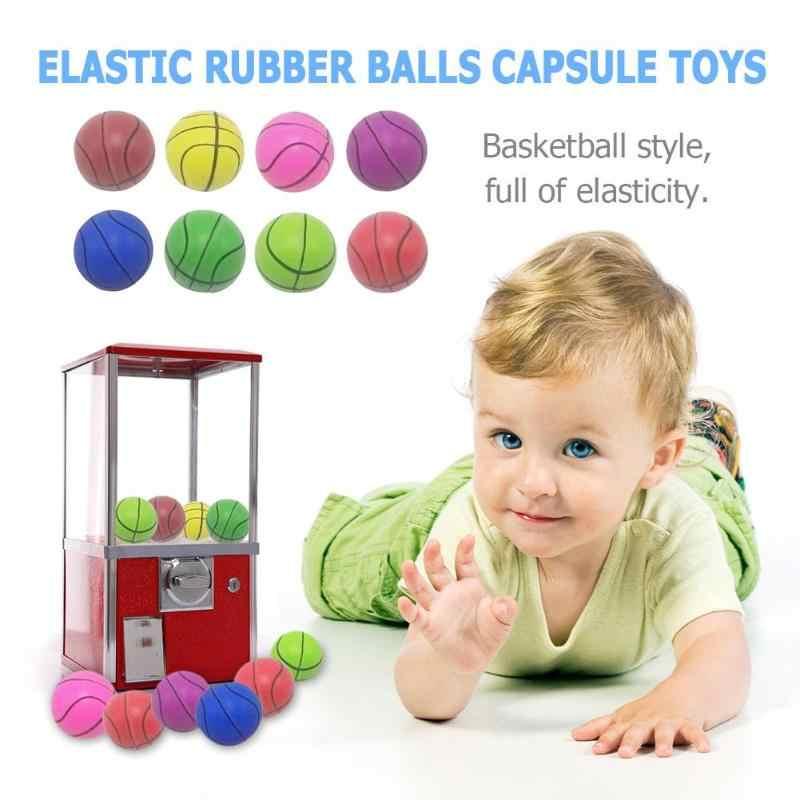 Forma de pelota de básquetbol pelota rebote pelota elástica de goma pelotas de Pinball cápsula Juguetes