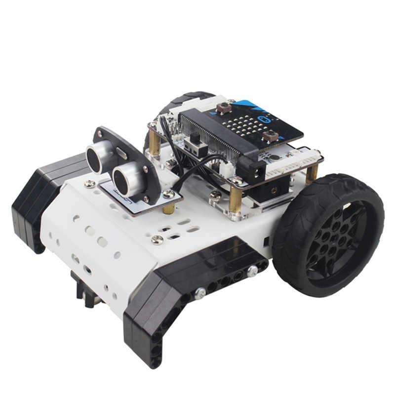 LOBOT Micro: bit GoGobit Programável Inteligente de Rastreamento de Voz PC APP Controle RC Carro Robô