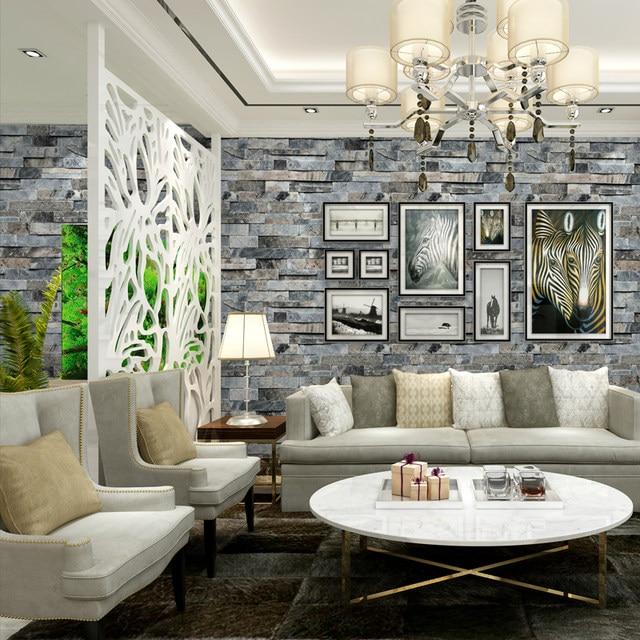 3d estereoscpica imitacin ladrillo de piedra papel pintado de pared para paredes 3 d sala tv fondos vinilo papel pintado peint mural 3d - Papel Para La Pared