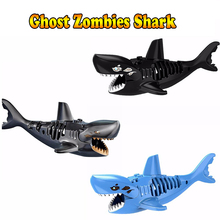 Ghost Zombie Shark Jack Sparrow Pirates of the Caribbean hulk LEGOINGS Toys FOR Children Figures Building