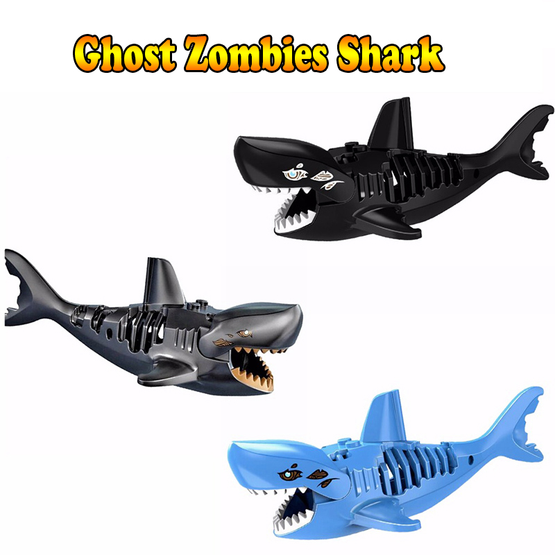 Ghost Zombie Shark Jack Sparrow Pirates of the Caribbean hulk LEGOINGS Toys FOR Children Figures Building Blocks Bricks