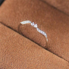 Modyle 2019 New Style Silver Color Ring for Women with Cubic Zircon Stone Vintage Leaf Shape Rings(China)