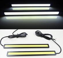 Car styling 1pcs 17cm 12W COB LED font b Lights b font DRL font b External