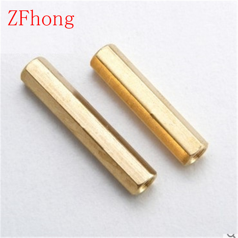 20pcs m3 brass spacer M3*5/6/7/8/10/11/12/14/15/16/18/20/25/30 Female To Female Brass Hex Standoff 20pcs m3 copper standoff spacer stud male to female m3 4 6mm hexagonal stud length 4 5 6 7 8 9 10 11 12mm