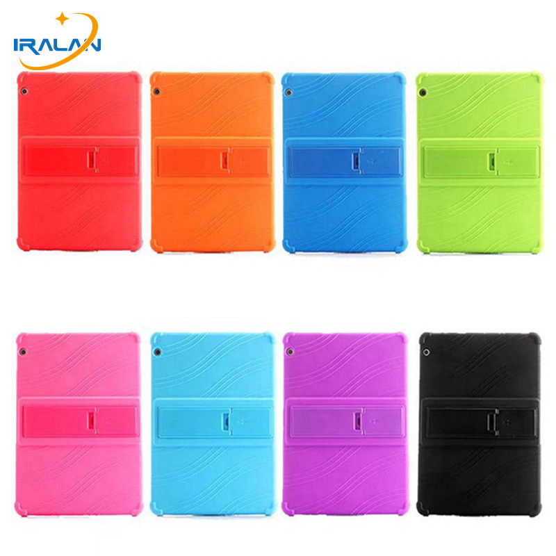 Soft Silicone Shockproof Back Cover for Huawei MediaPad T3 10 AGS-W09 AGS-L09 Honor Play Pad 2 9.6 inch Tablet stand Case+Stylus silicone with bracket flat case for huawei mediapad m5 8 4 inch
