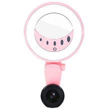 Mobile Phone Fill Light Beauty Self-Timer Without Distortion Thin Press Brightness Adjustment Self Timer Lamp With Mobile Lens universal multi function fill light mobile phone holder self timer live light beauty artifact fill light mobile phone holder