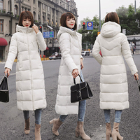 Extra large size winter women's coat fashion long slim hooded cold jacket coat casual solid color Parker cotton coat 6XL