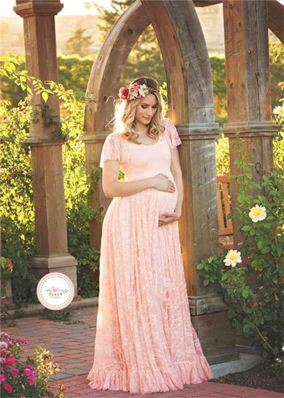 37ddf75dbe307 ... Summer pregnant dress maternity photography clothing lace sexy maxi  dress elegant maternity gown plus size ...