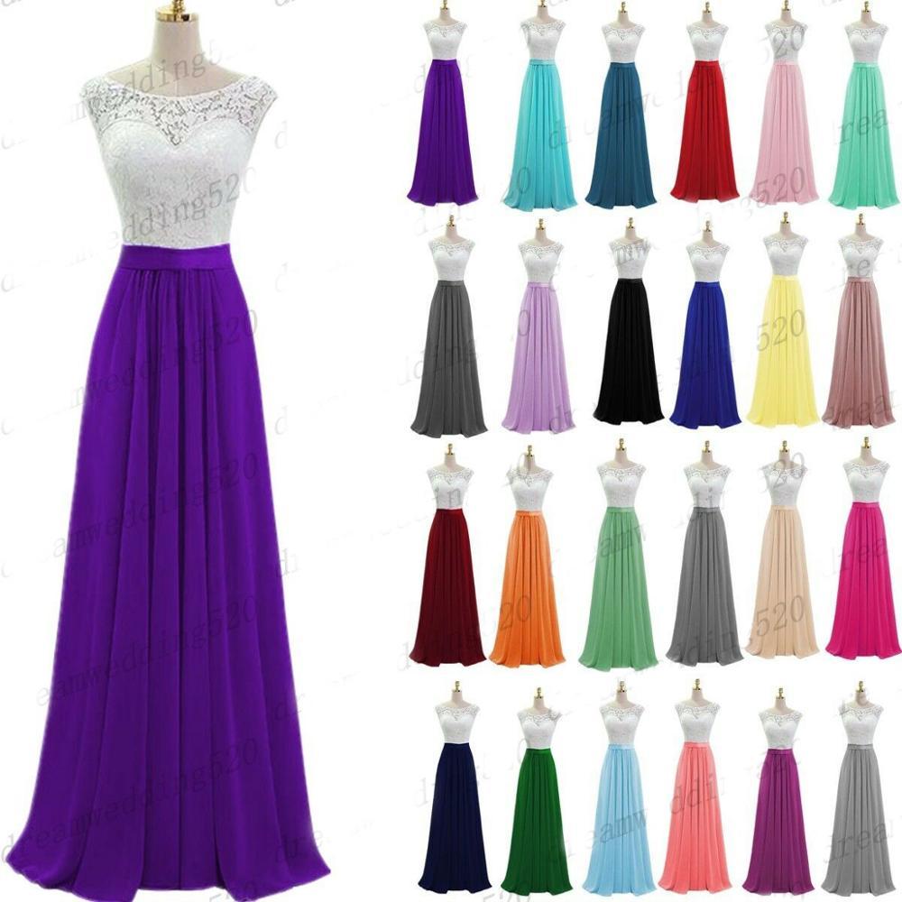 A-line Scoop Chiffon Lace  Elegant Off-shoulder Cheap Bridesmaid Dresses Wedding Party Dresses Robe De Soiree Lace Up