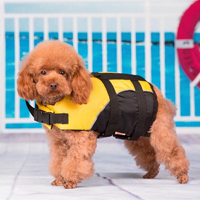 oxford giallo cani pet costumi da bagno pet di salvataggio del corpo abbigliamento cane di nuotata