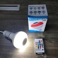 Bluetooth Speaker Bulb Smart LED E27 RGB Lamp 12W AC 100V 120V 220V Music Playing Wireless