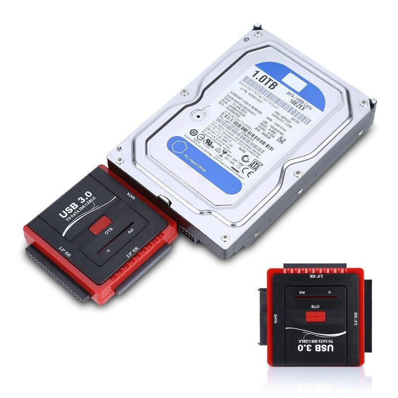 Free shipping USB3.0 to 2.5 3.5 IDE / SATA / ESATA Cable converter Adapter with OTB function + Charger EU/US/UK Plug mare liiger iga kodu esmaabi abc
