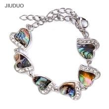 Fashion Abalone Shell Armband Romantiska hjärta armband Creative Silver smycken till kvinnor