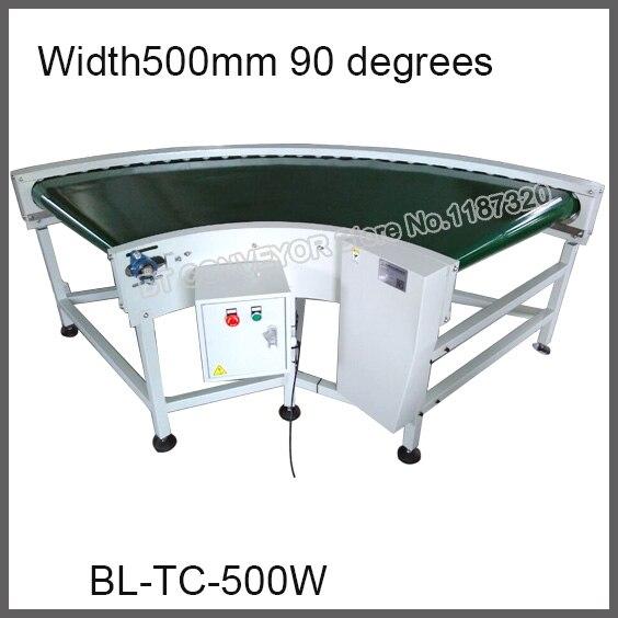 De haute Qualité Tournant Coin Ceinture Convoyeur, Approvisionnement d'usine 500mm Large 90 degrés/180 degrés Compact Convoyeur