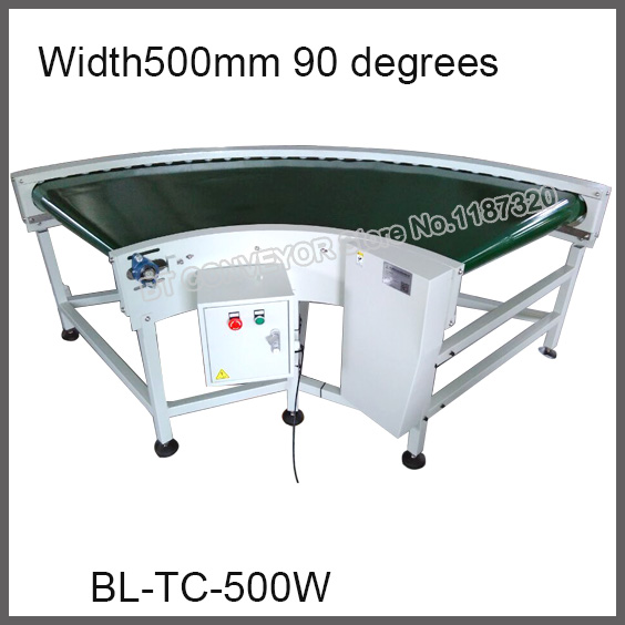 High Quality Turning Corner Belt Conveyor, Factory Supply 500mm Wide 90 degrees / 180 degrees Compact Conveyor 500mm width 1000mm middle drive compact belt conveyor factory supply conveyor 30kg pvc pu belt constant or variable speed