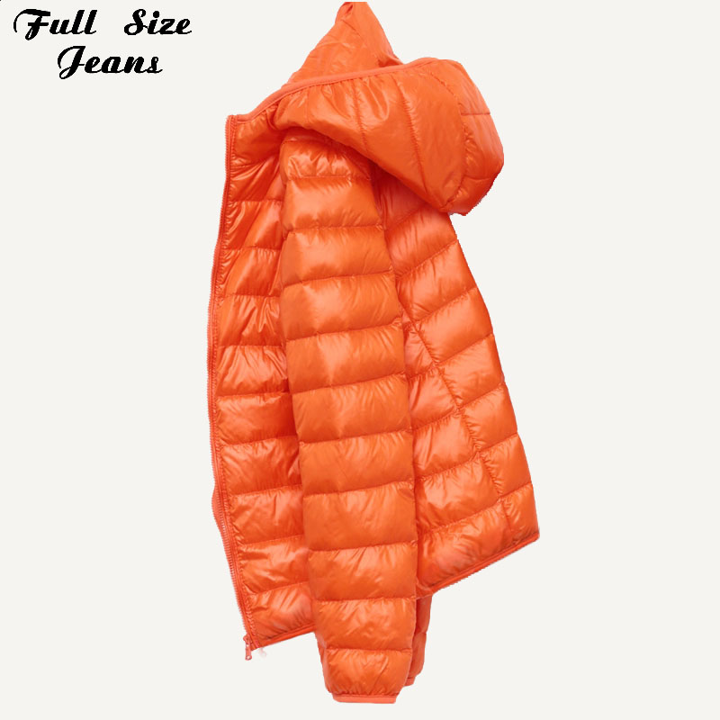 Winter Plus Size 4Xl New Ultra Light Duck Down Jackets Women Hooded Winter Coat Long Sleeve Warm Slim Down Jacket Puffer Jacket
