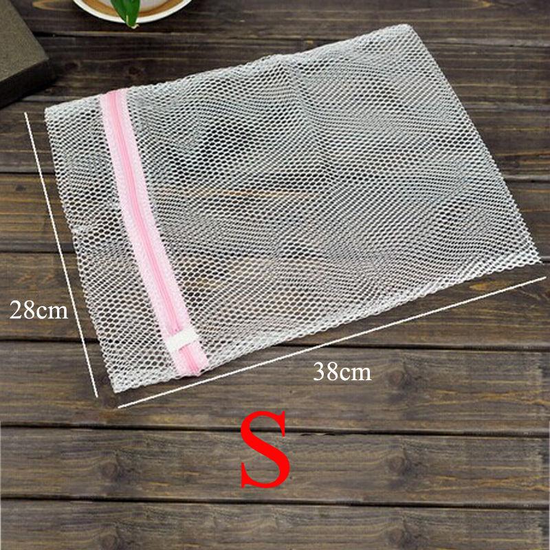 1 pieza de calidad práctica de la colada con cremallera limpiador red malla calcetines sujetador ropa proteger bolsa de lavado multifunción útil hogar jardín