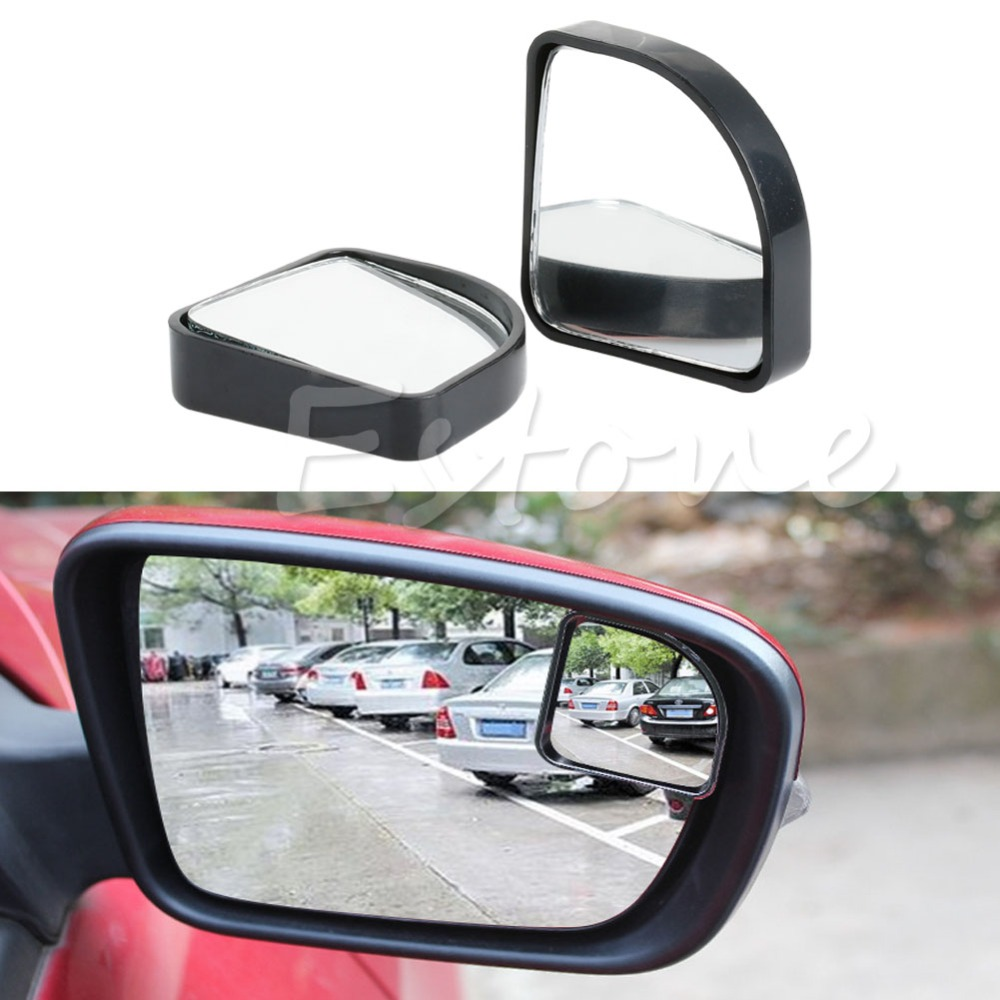 2pcs adjustable black side rearview blind spot rear view auxiliary mirror for auto car. Black Bedroom Furniture Sets. Home Design Ideas