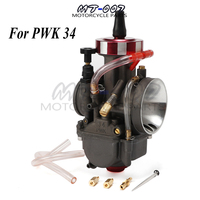 Universal Motorcycle Carburetor For Keihin PWK34 34mm Modify Off Road Scooter UTV ATV For 4T Engine