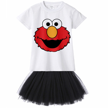 867007c92 1Yto12Y Cartoon Sesame Street Elmo Kids Girl Dress Cookie Monster Children  Toddler Girl Tutu Dress Baby