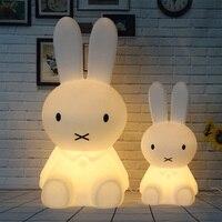 Rabbit Led Night Lights Dimmable Baby LED Night Lamps Sleep Bedroom Animal Cartoon Decorative Lamp Bedside