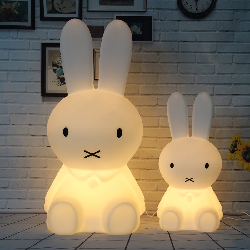 Rabbit Led Night Lights Dimmable Baby LED Night Lamps Sleep Bedroom Animal Cartoon Decorative Lamp Bedside Living Room Y1