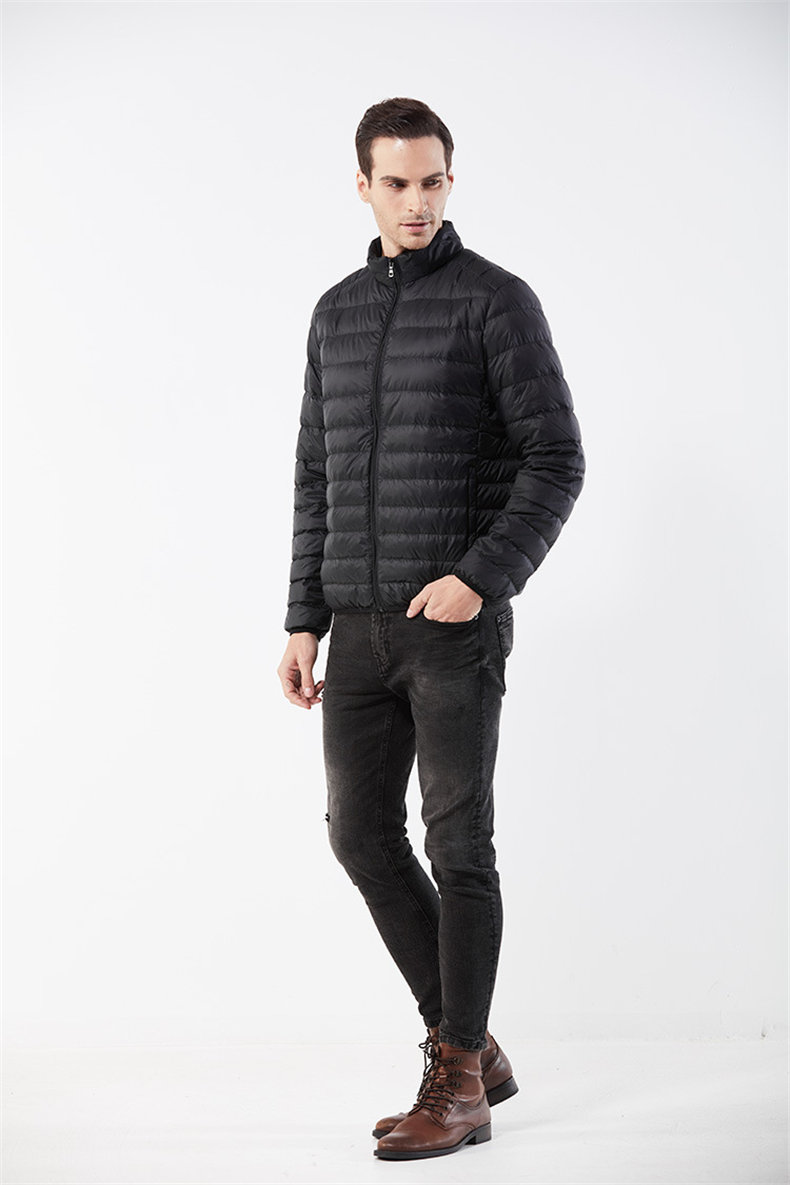 Customized White Duck Down Jacket Men Winter Ultralight Light Male Parka Coats Man Brand Clothing Water Resistant Outwear Autumn5