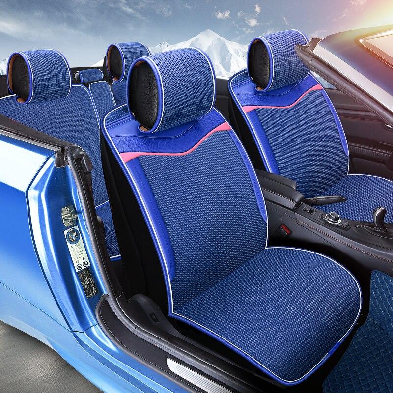 Мерное Вафельная Ткань Бесплатная Комплект сиденья автомобиля подушки автомобиля Стайлинг для BMW F10 F11 F15 F16 F20 F25 F30 f34 E60 E70 E90