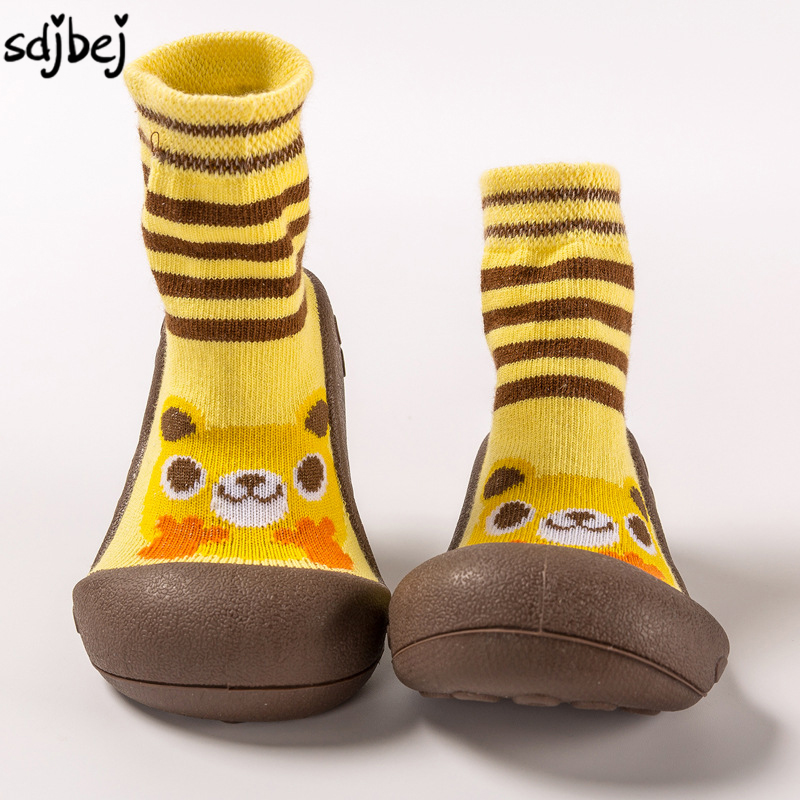 Sdjbej Spring Autumn Baby Toddler Shoes Soft Bottom Toddler Socks With Rubber Soles Baby Floor Socks Slip Infant Home Shoes ...