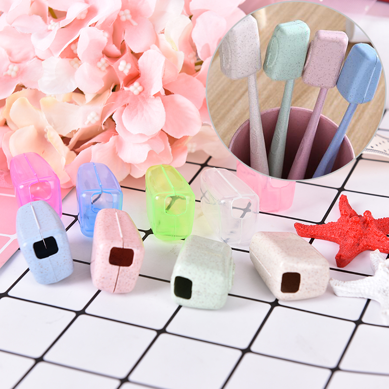 4PCS/5Pcs Portable Toothbrush Headgear Travel Hiking Camping Brush Tooth Brush Holder Cap Case Cover image