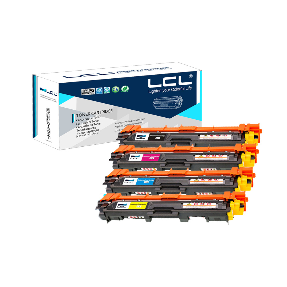 LCL TN242 TN246 TN242BK TN246C TN246M TN246Y (4-Pack) Toner Cartridge Compatible for Brother HL-3142CW/HL-3152CDW