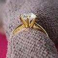Изящные Кольца 2CT Solid 24 К Желтое Золото Отделка Royal Crown Дизайн 925 SONA Алмаз Предложить Брак Украшения 925 Серебро