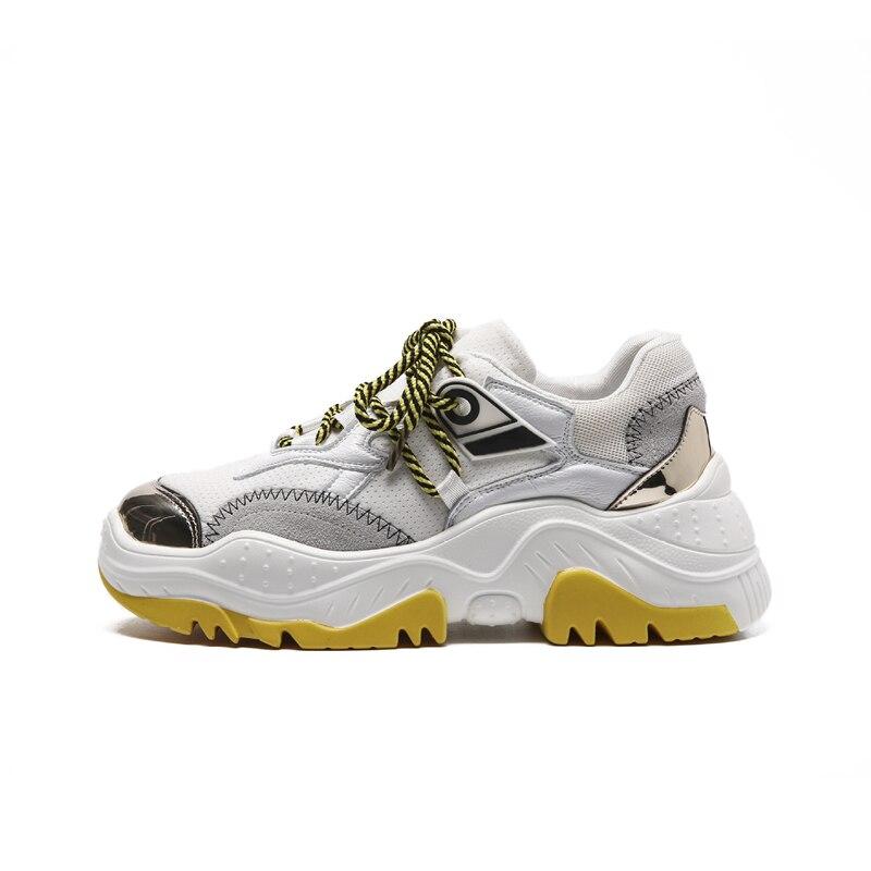 Style Plates Casual Gris Chaussures Simple 2018 Confortable Rétro Automne Mesh forme Nouveau pourpre Respirant Plate jaune Femmes 4xwFYEqOY