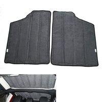 4pcs Set 2Door Car Hardtop Sound Deadener Hard Top Insulation Wrap Mat For Wrangler 2013 2014