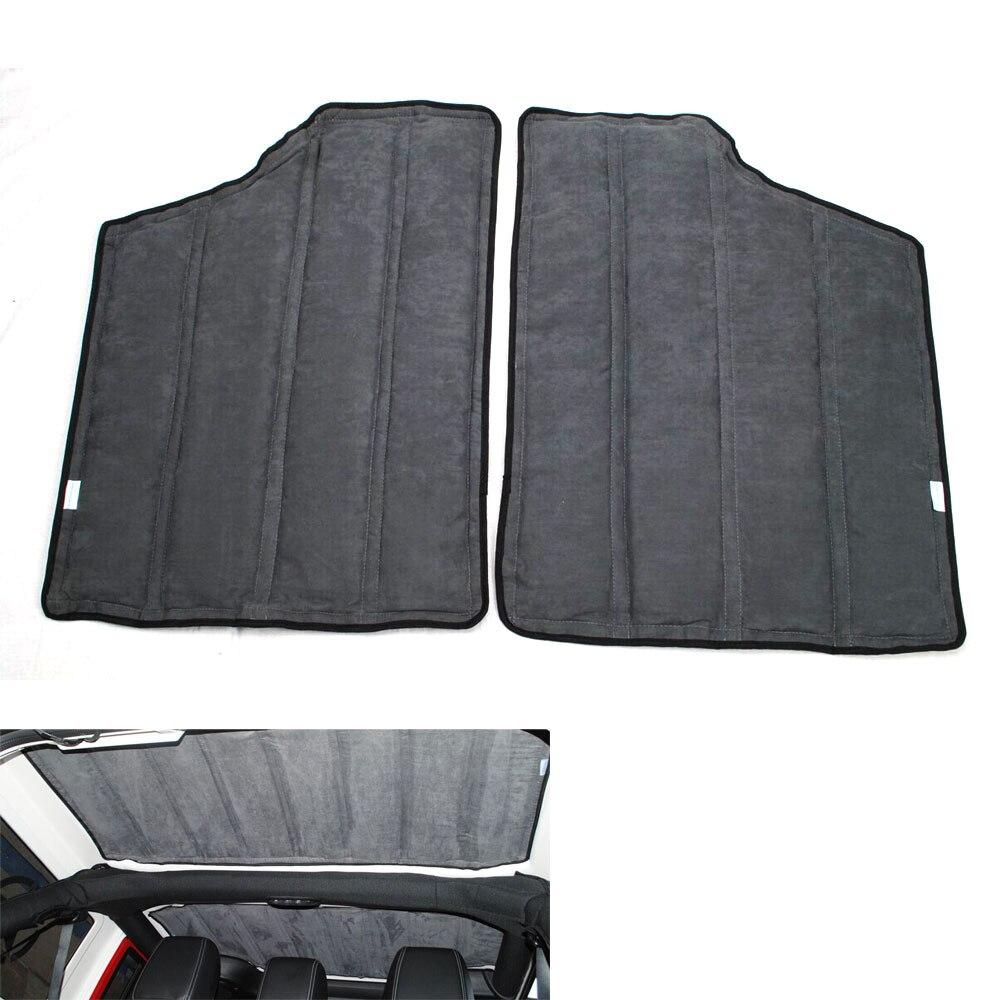4 pièces 2 porte voiture isolation thermique coton dur Top isolation acoustique Wrap Mat pour Jeep Wrangler 2013 2014 voiture style accessoire