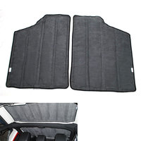 4pcs 2Door Car Heat insulation cotton Hard Top Sound Insulation Wrap Mat For Jeep Wrangler 2013 2014 Car Styling Accessary
