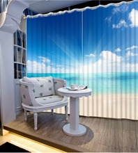 curtains for living room modern blue sky landscape patterned window curtains home ddecorative home decor