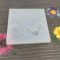 DIY Craft ювелирных изделий Смола Кастинг плесень силиконовая форма для изготовления Подвески с крыльями ангела инструменты