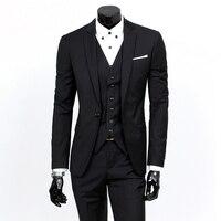 Men S Slim Fit Formal 3 Piece Suit Consisting Of Jacket Vest And Pants Elegant Available