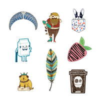1 PC Lovely Badge Cartoon Icons on Backpack Kawaii Icon Badges for Backpack Badges for Clothes Acrylic Badges