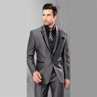 Linyixun 2018 New Tweed Men Suits Plaid Terno Wedding Suit Groom Tuxedos Tailored Wool Suits Custom Made (Jacket+pants+vest)