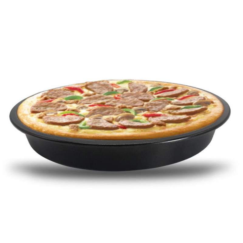 6/9 Inch Round Pizza Baking Pan BBQ Carbon Steel Non-Stick Oven Pizza Plate Dish Barbeque DIY Pizza holder Tray drop ship