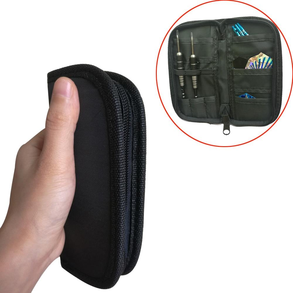 Dart Case Wallet Bag Pouch Oxford Fabric Soft Tip Steel Tip Darts Carry Storage Bag Holding 2 Sets
