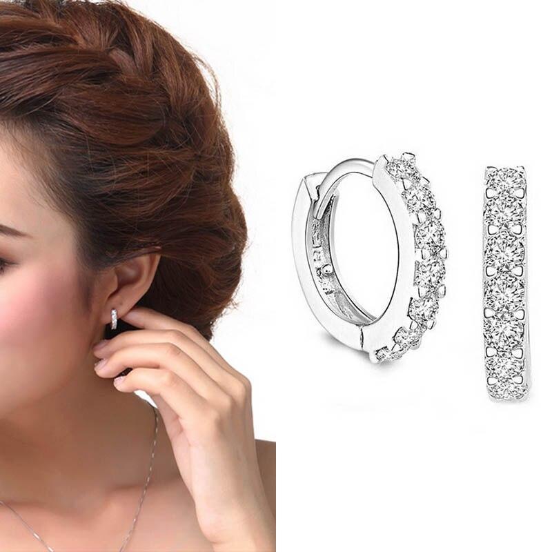 Lnrrabc 1 Paar Heißer Euramerican Trendy Charming Kristall Cooper Frauen Dame Mädchen Hoop Ohrringe Beliebte Jewery Gute QualitäT