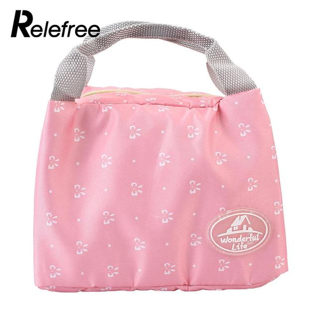 Portable Handle Insulated Thermal Cooler Picnic Lunch Picnic Bag Container