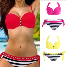 Bikinis Set Sexy Bikini Women Swimsuit Swimwear Push Up Plaid Bathing Suit Summer Beachwear цена в Москве и Питере