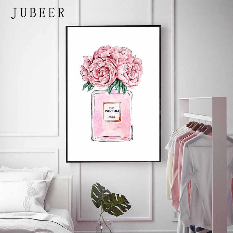 Модные художественные плакаты и принты шампанское духи плакат Париж башня холст живопись для гостиной украшения картины
