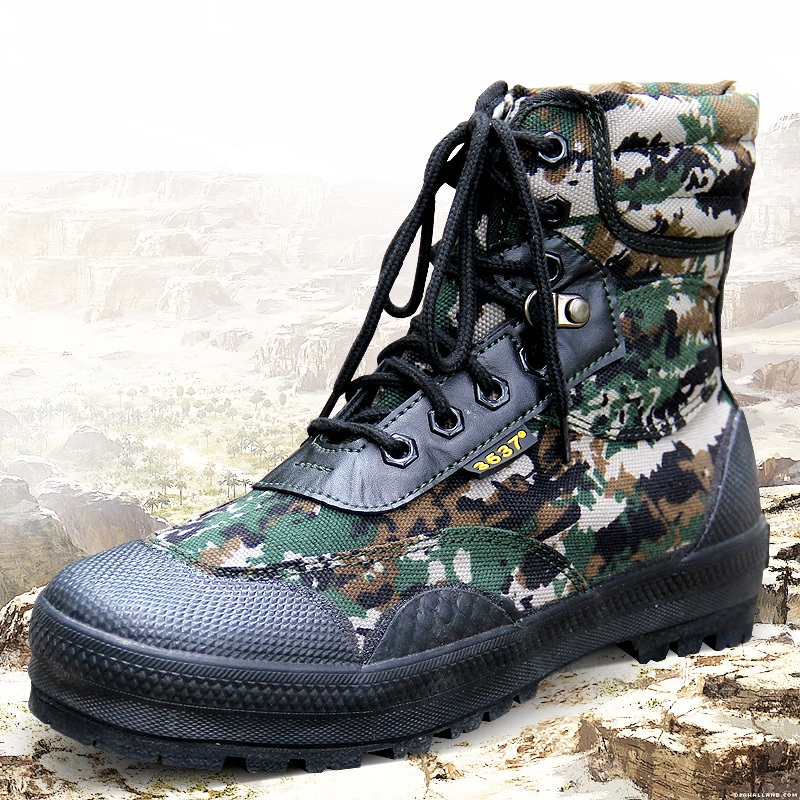 Men's Military Camouflage Boots Non-Slip Ankle Shoes Hunting Hiking Shoes Camping Shoes Men Army Boots Outdoor Tactical Shoes big size 46 men s winter sneakers plush ankle boots outdoor high top cotton boots hiking shoes men non slip work mountain shoes