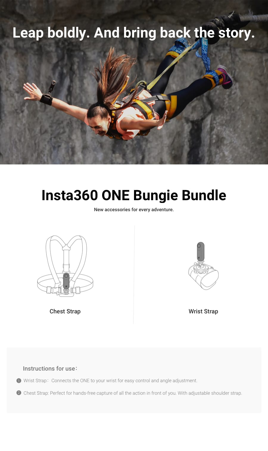 Bungie Bundle ( Insta360 ONE X and ONE Accessories )
