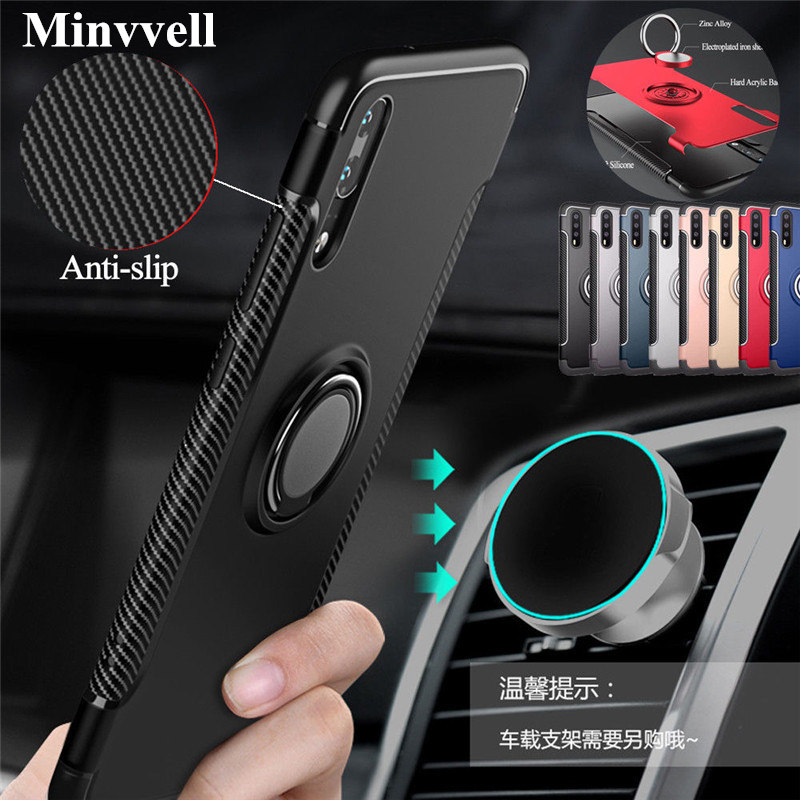 Heavy Duty Armor Case For huawei P20 Lite Pro P10 Plus Honor 8 9 7X Note 10 MATE 10 NOVA 2 3 3i View V10 8X MAX Car Holder Cover image